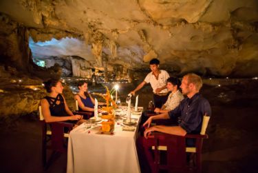 Meal in cave