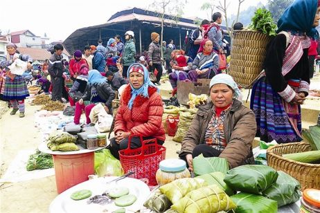 'Banh giay' of Nung ethnic people in Lao Cai